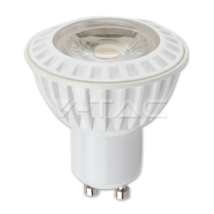LED Bulb - LED Spotlight - 6W GU10 White Plastic Premium Warm White 110°